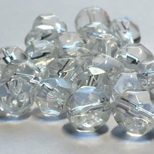 Load image into Gallery viewer, Clear Glass Faceted Round Beads, 6 mm - 24 Beads