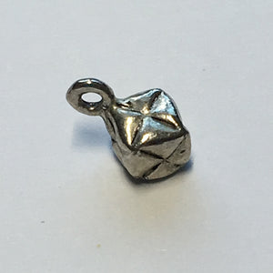 Antique Silver Metal Cube / Square Charm, 11 x 6 mm