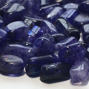 Blue Sodalite Semi-Precious Stone Oval Flats and Roundish Tubes, 11 x 6 - 5 x 4 and 5 x 4 - 11 x 5 mm - 81 Beads, Irregular Shapes