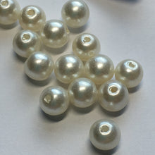 Load image into Gallery viewer, White Pearl Round Acrylic Beads, 6 mm - 16 Beads