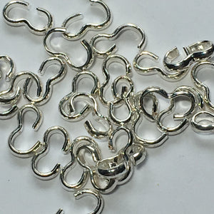 Bright Silver Chain Link Connectors, 7 mm  - 27 Links