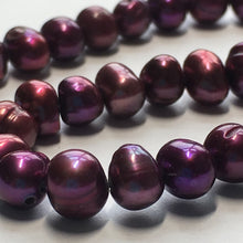 Load image into Gallery viewer, Wine Baroque Pearls, Side-Drilled, 5 x 6 mm, 32 Pearls