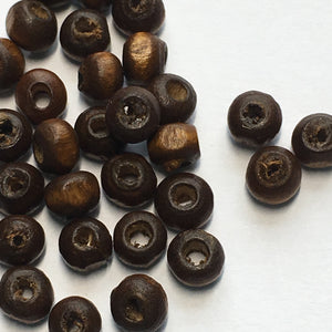 Brown Wood Rondelle Beads, 3 x 4.5 mm, 36 or 50 Beads