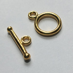 Gold Barbell Toggle Clasp  11 mm