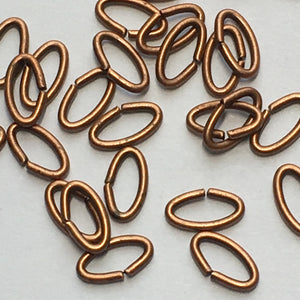 Copper Chain Links, 6 x 3 mm, 20 or 25 Links