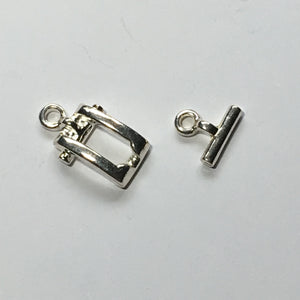 Silver Toggle Clasp,  12 mm