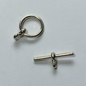 Silver Toggle Clasp, 20 mm