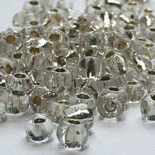 Load image into Gallery viewer, 6/0 Silver Lined Clear Crystal Seed Beads