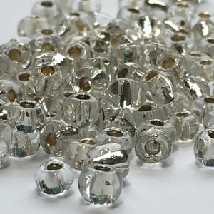 6/0 Silver Lined Clear Crystal Seed Beads