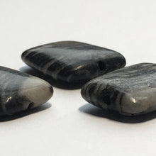 Load image into Gallery viewer, Black Line Jasper Semi-Precious Stone Flat Rectangle Beads, 17 x 12 x 4 mm, 3 Beads