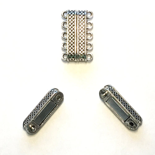 Silver Magnetic Clasp  10 mm
