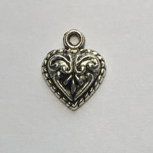 Load image into Gallery viewer, Antique Silver Heart Charm, 14.5 x 11