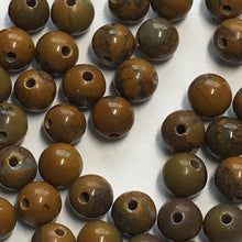 Load image into Gallery viewer, Brown Stone Round Beads, 3 mm, 73 Beads