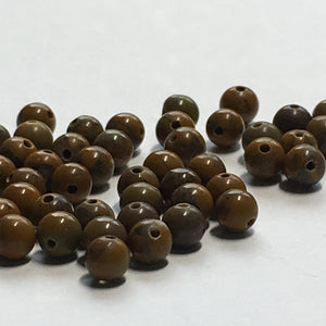 Brown Stone Round Beads, 3 mm, 73 Beads