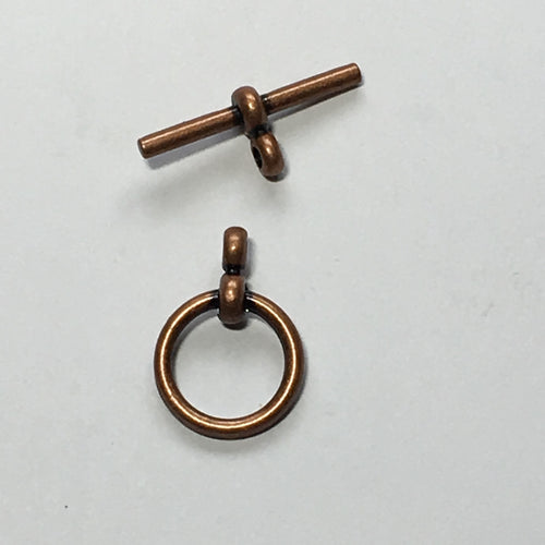 Copper Toggle Clasp,  20 mm