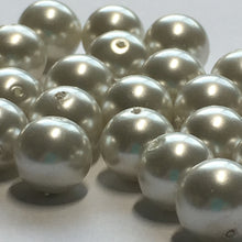 Load image into Gallery viewer, White Pearl Glass Round Beads, 8 mm, 30 Beads