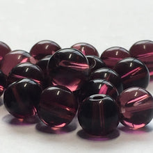 Load image into Gallery viewer, Transparent Dark Purple Glass Round Beads, 6 mm, 28 Beads