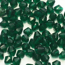 Load image into Gallery viewer, Transparent Green Glass Bicone Beads, 4 mm, 50 Beads