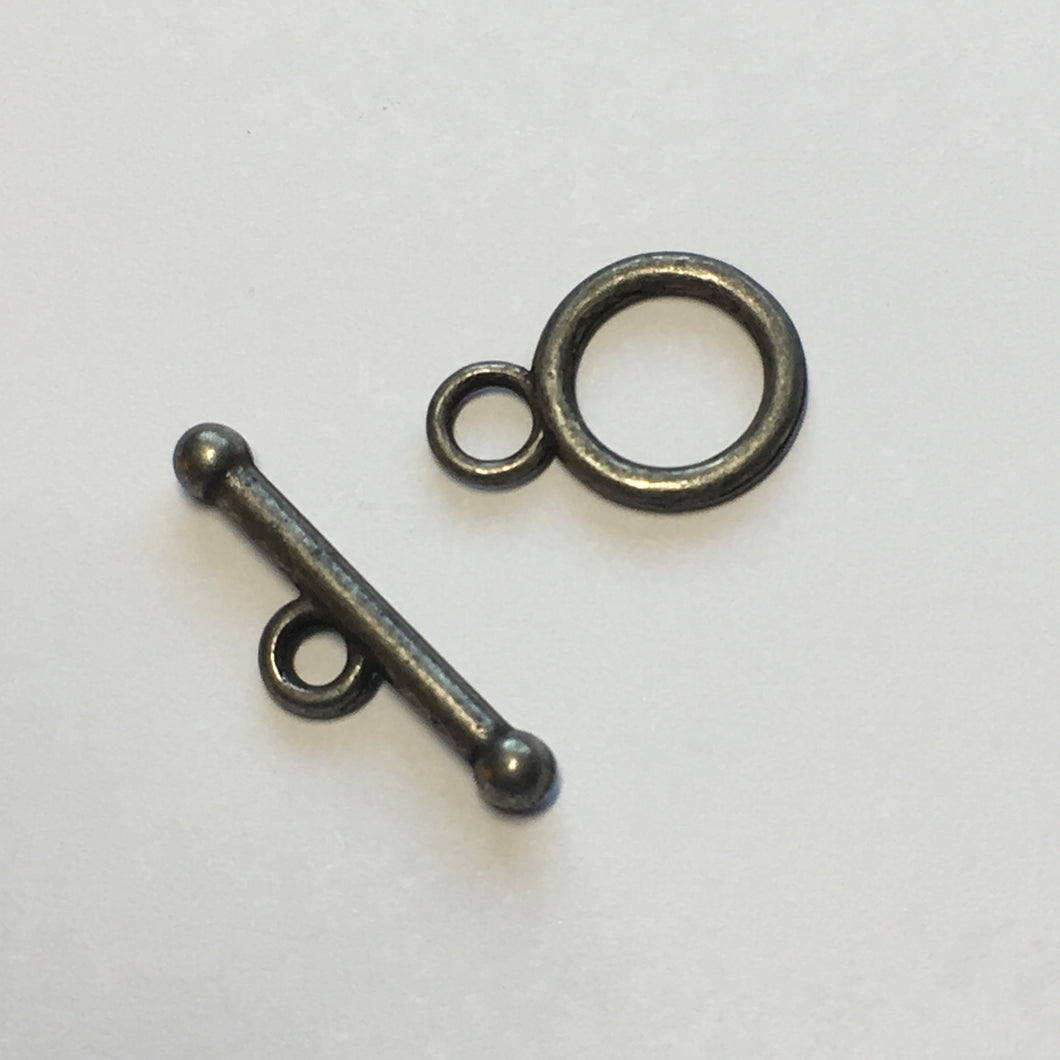 Pewter Finish Toggle Clasp, 25 mm
