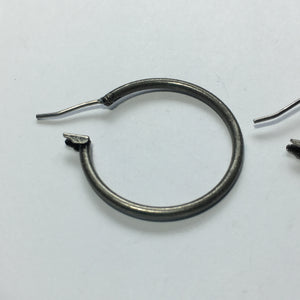 Pewter Finish Lever Back Earring Hoops, 27 mm - 1 Pair