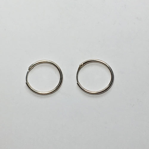 Silver Plated Earring Hoops 18 mm - 1 pair