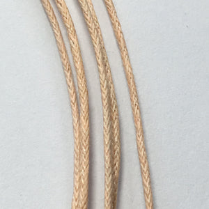 Peach 5-Strand Rat Tail Cord Necklace, 16-Inch