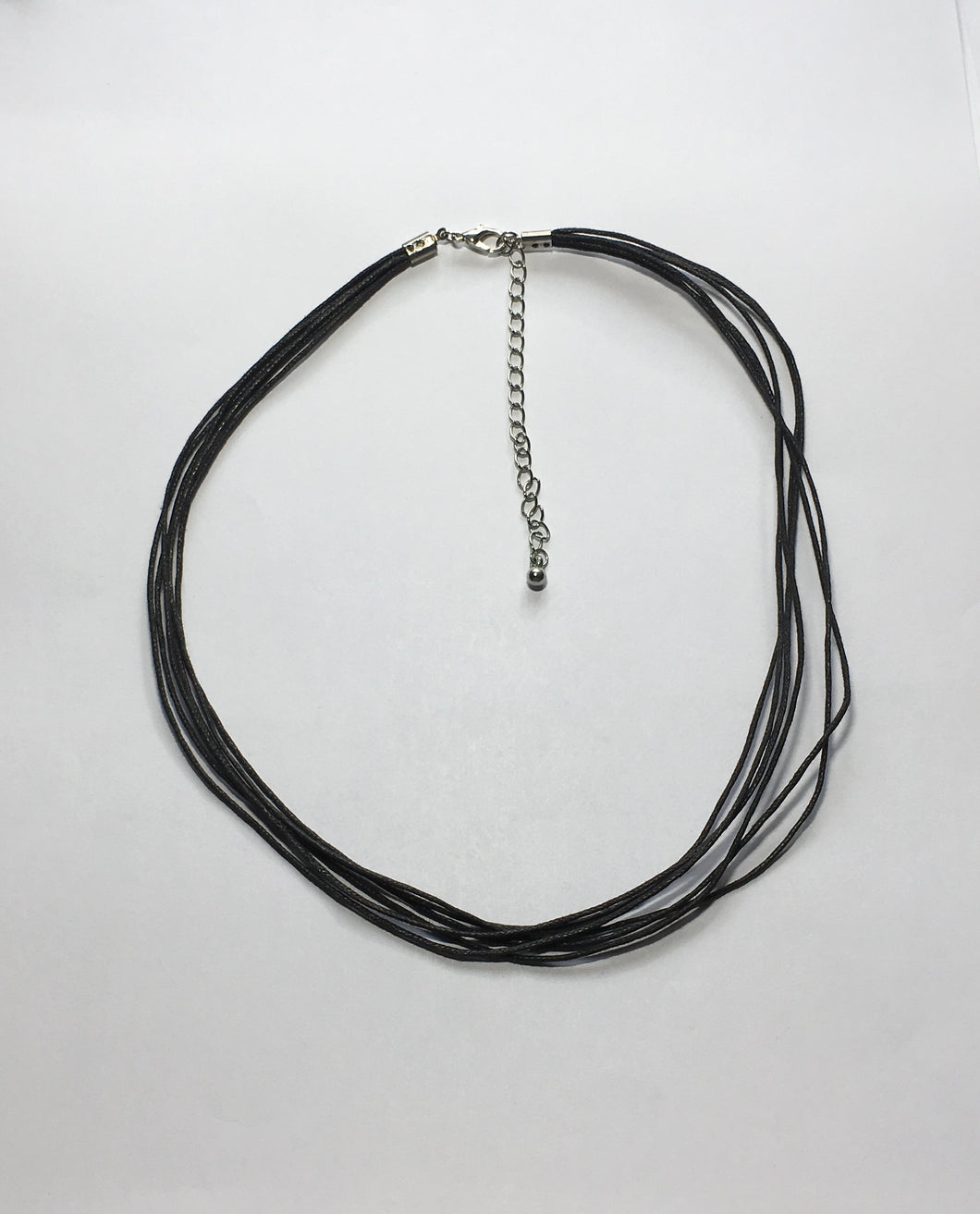 Black 5-Strand Rat Tail 16-Inch Cord Necklace