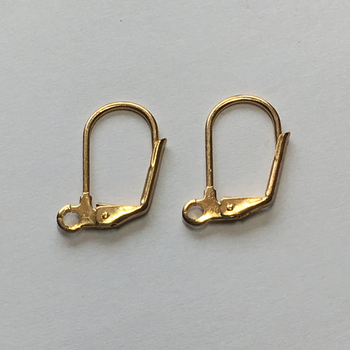 20-Gauge 18 mm Gold Lever Back Kidney Ear Wires - 1 Pair