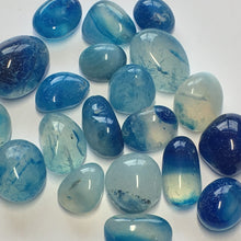 Load image into Gallery viewer, Blue and Clear Pebble Stone Beads, 17 x 3 - 12 x 7 mm, 20 Beads