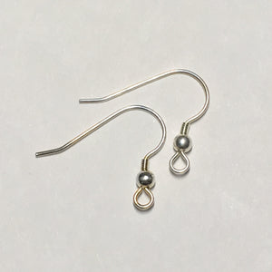 21-Gauge 18 mm Silver French Fish Hook Ear Wires - 1 Pair
