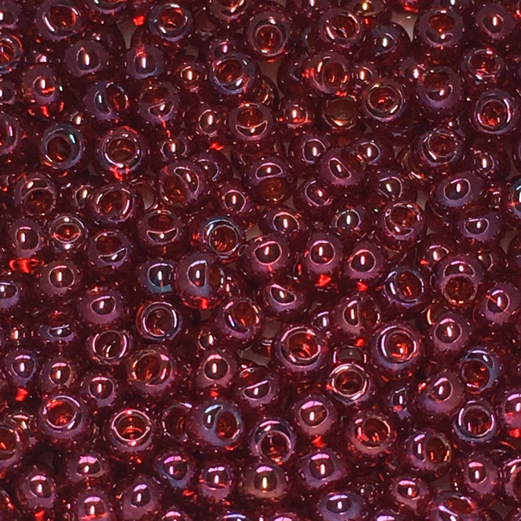 TOHO TR-11-332 11-0 Cranberry Gold Luster Seed Beads, 5 gm