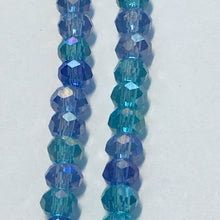 Load image into Gallery viewer, Bead Gallery Blue Glass Rondelle Mix, 2 x 3 mm, 10-Inch Strand