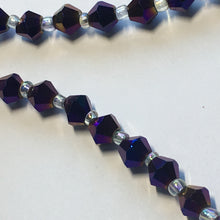 Load image into Gallery viewer, Bead Gallery Purple Iris Glass Bicone Beads, 6 mm - 28 Beads