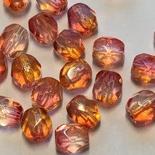 Load image into Gallery viewer, Czech Fire Polished 6-FPR0464815 Fire Opal Faceted Round Glass Beads,  4 mm - 25, 45 or 50 Beads