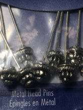 Load image into Gallery viewer, Blue Moon Antique Silver Metal Head Pins, 2-Inch, 10 Pins