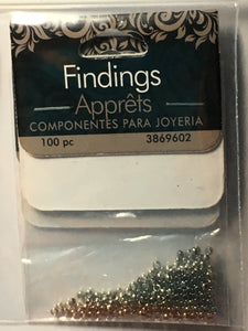 Findings by Cousin Silver Crimp Beads, 2 mm - 100 Beads