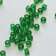 Load image into Gallery viewer, TOHO TR-11-7B  11/0 Transparent Dark Green Seed Beads, 5 gm