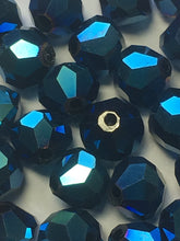 Load image into Gallery viewer, Blue Iris Faceted Bicone Glass Beads, 7 mm, 32 Beads