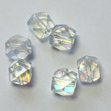 Load image into Gallery viewer, Crystal AB Fancy Cube Beads, 5 mm -  5 Beads
