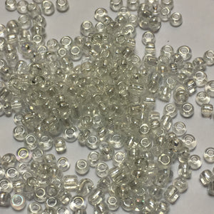 11/0 Transparent Crystal AB Seed Beads, 5 gm