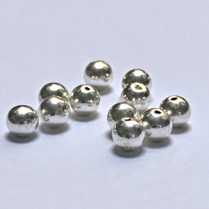 Beadalon Silver Plated Round Beads, 4 mm - 11 Beads