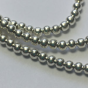 Bead Gallery Silver Plated Round Spacer Beads, 3 x 2 mm -  180 Beads