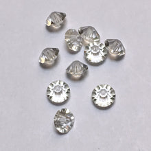 Load image into Gallery viewer, Clear Glass Faceted Saucer Beads, 3 x 5 mm -  10 Beads