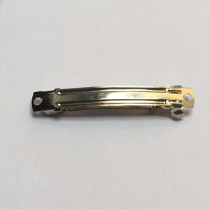 Silver Barrette Clip, 59 x 9 mm
