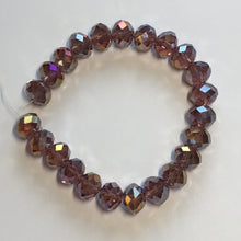 Load image into Gallery viewer, Czech Fire Polished Faceted Amethyst / Purple Luster Glass Rondelles Beads, 12 mm - 23 Beads