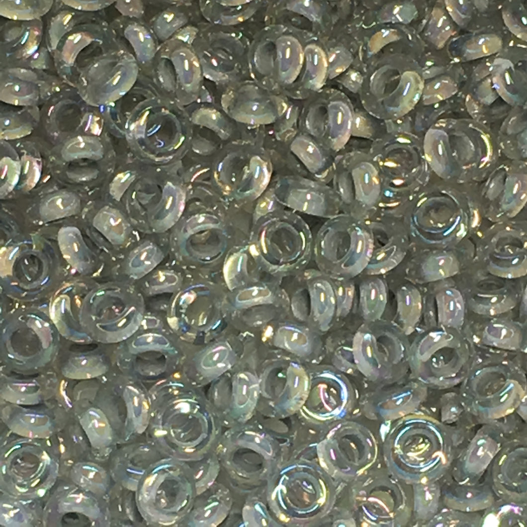 TOHO TD-8-261 - 8/0  Metallic Grey Lined Crystal Rainbow Demi Beads, 5 gm
