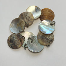 Load image into Gallery viewer, Natural Shell Circle Charms 16 mm - 9 Charms With Rings