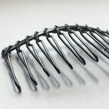 Load image into Gallery viewer, Black Metal Hair Comb Frame, Jewelry Making Component, 45 x 35 mm
