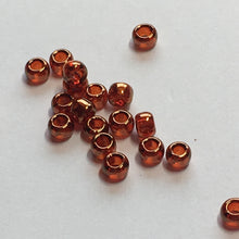 Load image into Gallery viewer, TOHO TR-11-329  11/0 Dark Hyacinth / African Sunset Gold Luster Seed Beads, 5 gm