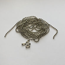 Load image into Gallery viewer, 2 mm Silver Ball Chain, 55-Inch, 4 Connectors